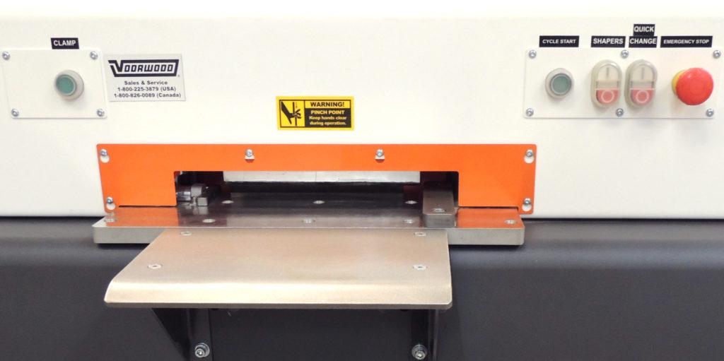 A16 Cope Shaper Control Panel